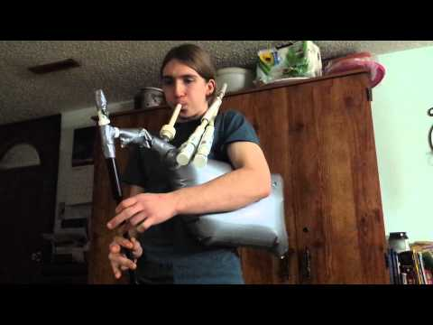 PVC/duct tape membrane Bagpipes