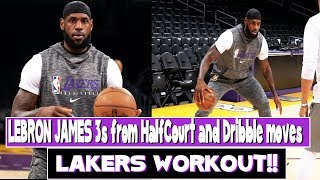 Lakers Lebron James Workout with Phil Handy |  Half court Jumpers and how to score on defenders !!!
