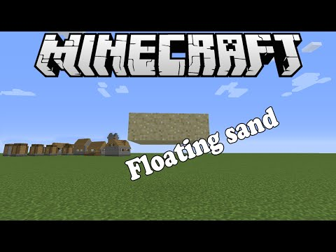 How to make sand float! Minecraft Tutorial (1.8.1)