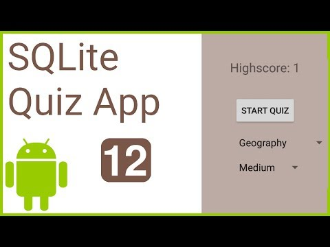 Multiple Choice Quiz App with SQLite Integration Part 12 - QUERY & SINGLETON - Android Tutorial