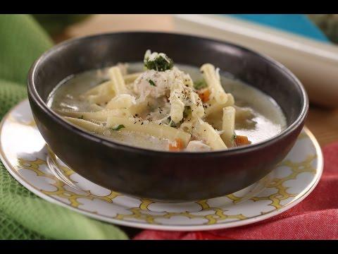Chunky Chicken Pasta Soup | Sanjeev Kapoor Khazana