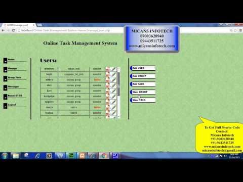 Online Task Management System - PHP