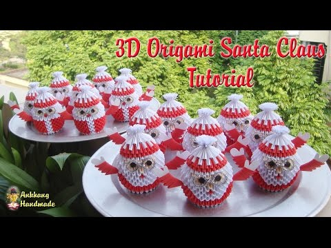 HOW TO MAKE 3D ORIGAMI SANTA CLAUS   DIY PAPER SANTA CLAUS TUTORIAL