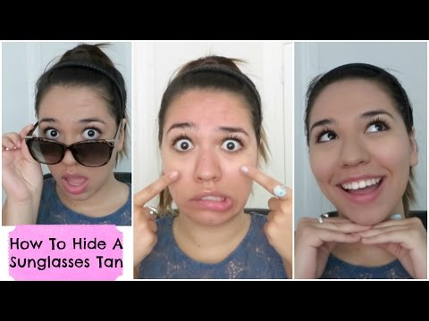 How to Hide a Sunglasses Tan | How to Cover Tan Lines | Summer Hack
