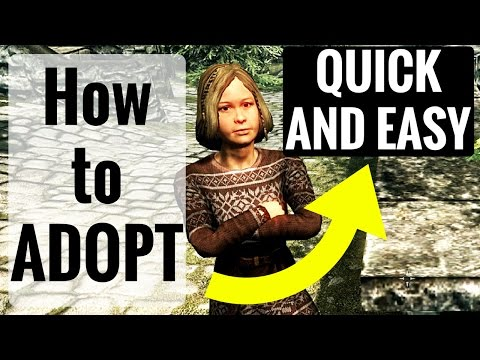 Skyrim REMASTERED -  How to ADOPT a Child (No Quest Needed)