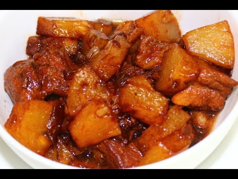 How to Cook Adobo with Pineapple - English