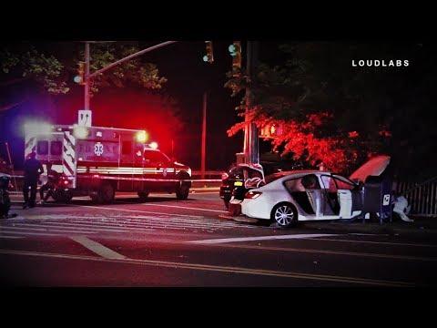 Car fatally hits mom & injures boy at bus stop