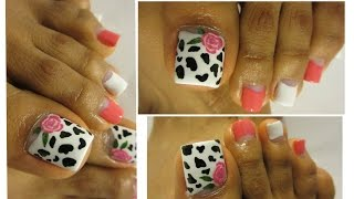 Paso A Paso Flores Daisy Para Las Uñas De Los Pies Toe Nail Art