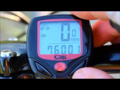SD-548B Sunding Bicycle Computer/Speedometer/Odometer from China (Unboxing and Video Review)