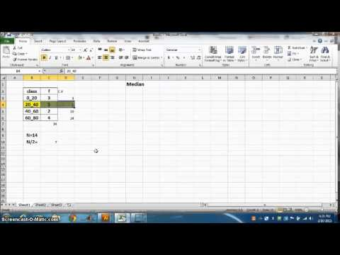 MEDIAN OF GROUPED DATA USING EXCEL