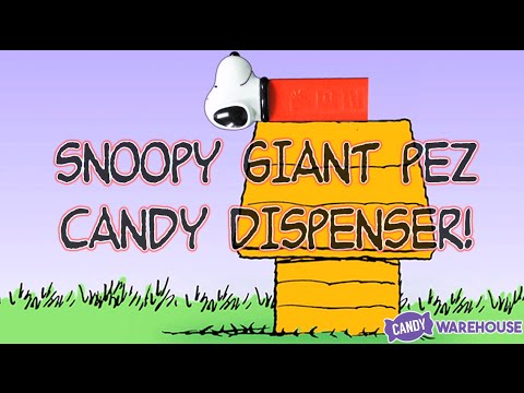CANDY SNOOPY | Giant PEZ Candy Dispenser