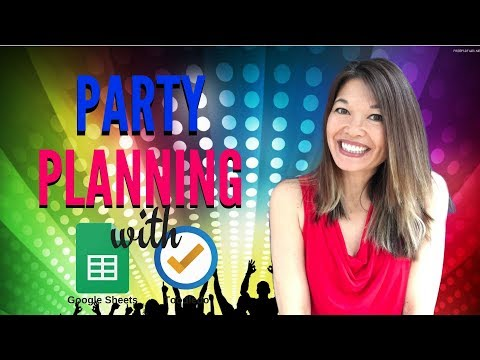 Easy Party Planning with Google Sheets and Toodledo