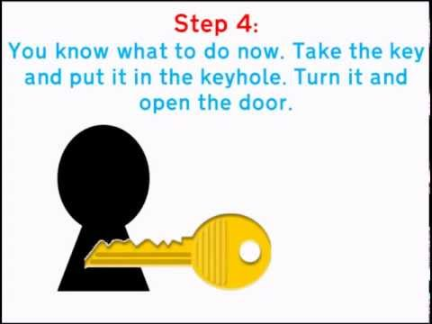 How to escape from a locked room