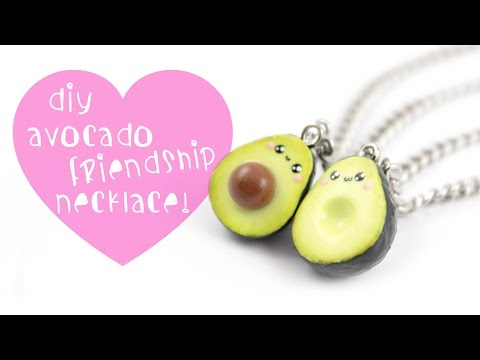 DIY Avocado Friendship Necklace/charms ! | Kawaii Friday