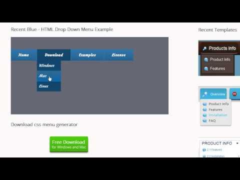 CSS3 Menu - Easy way to create a navigation menu bar!
