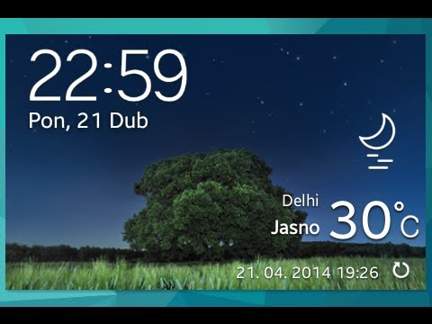 How to install NEW S5 weather widget on S2