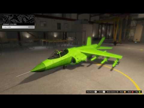 GTA Online Hydra Color Customization