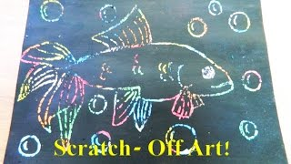 Trying out scratch art! (inspired by Cute Life Hacks)