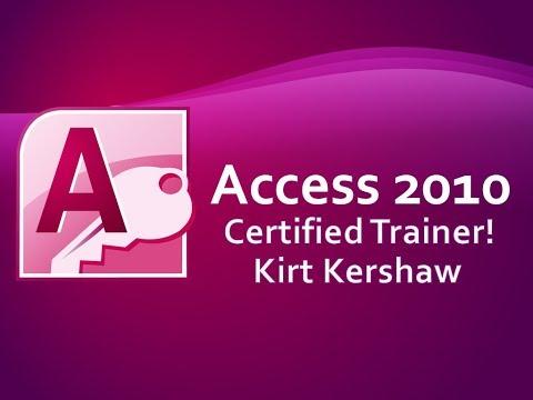 Access 2010 Basics Training Video