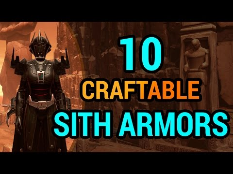 15 Sith Armors You Can Craft in SWTOR