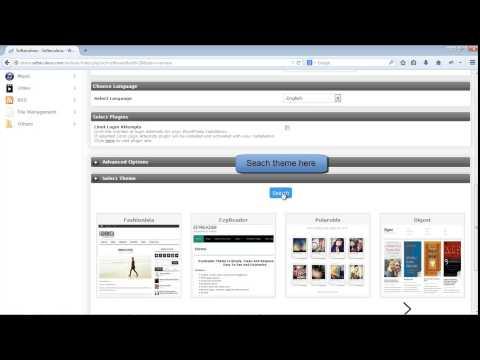 Install WordPress via Softaculous with custom theme