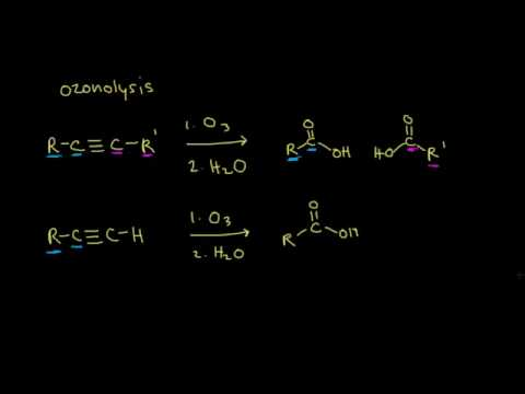 Halogenation and ozonolysis of alkynes | Alkenes and Alkynes | Organic chemistry | Khan Academy