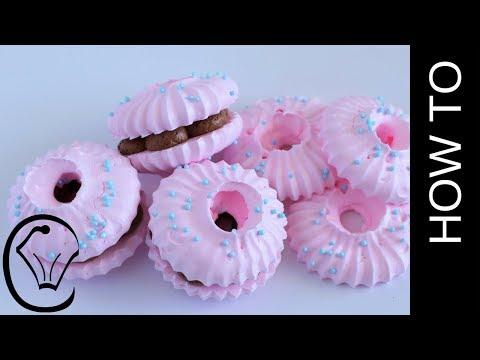 Carton Egg Whites Meringue Cookies with Whipped Chocolate Ganache