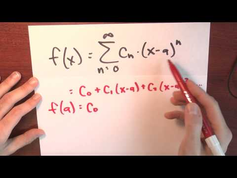 What is the Taylor series of f centered around a? - Week 6 - Lecture 3 - Sequences and Series