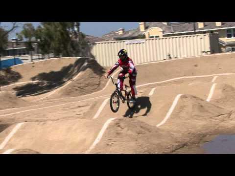 Kyle Bennett riding the pump track