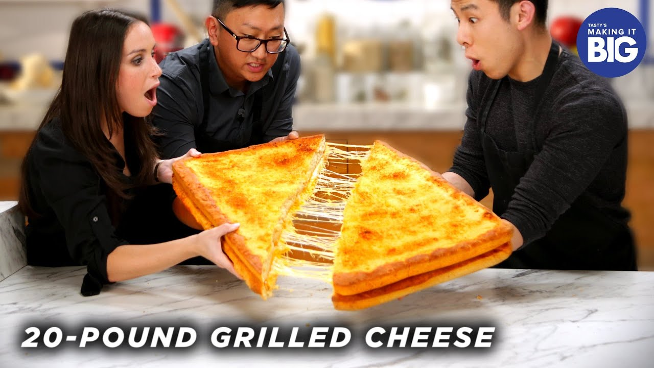 I Made A Giant 20-Pound Grilled Cheese For HellthyJunkFood •Tasty