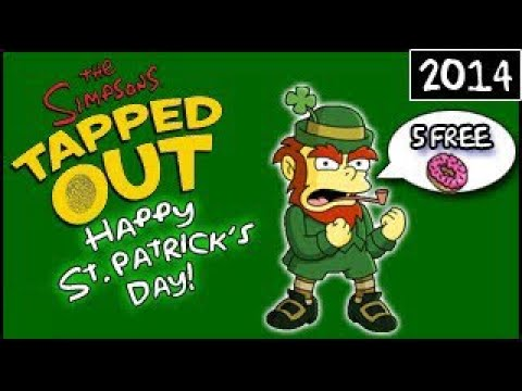 The Simpsons: Tapped Out - Happy St. Patrick's Day! - 5 Free Donuts! (2014)