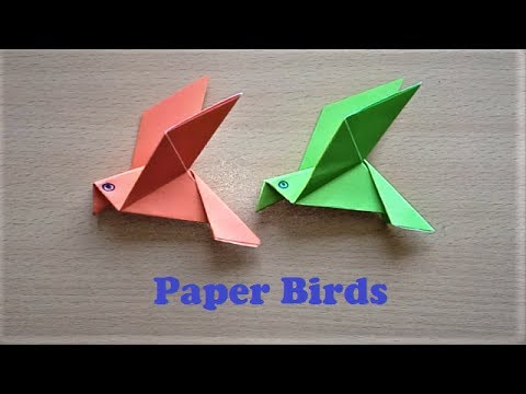 How to Make Paper Bird Origami Flapping Birds - Paper Bird Making
