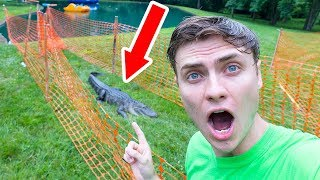 I TRAPPED THE POND MONSTER!!