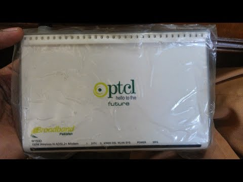 how to configure ptcl modem w150d