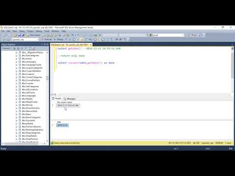 How to return only the Date from a SQL Server DateTime datatype
