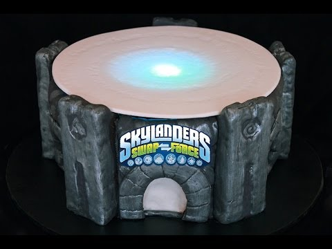 Light Up Skylanders Cake! Make a Skylanders Swap Force Portal of Power Cake that Glows & Flashes!
