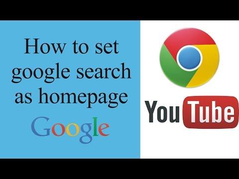 How to set default home page in google chrome like google.com