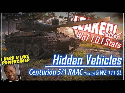 LEAKED!-ish 1.0.1 Hidden Vehicles || World of Tanks