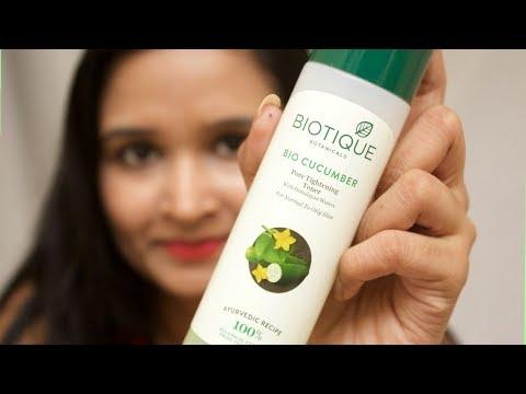 Biotique Bio Cucumber Pore Tightening Toner Review | pinkrussh