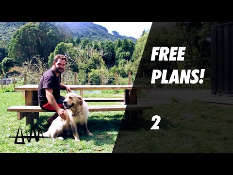 Building a Massive Picnic Table 2! FREE PLANS!