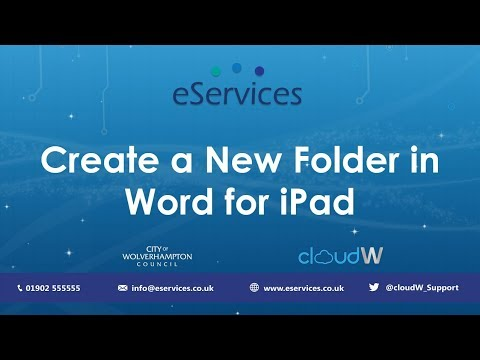 Create a New Folder in Word for iPad | Tutorial