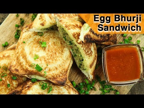 Egg Bhurji Sandwich   Grilled Egg Cheese Sandwich   Egg Sandwich Recipe   Egg Recipe   Varun Inamdar
