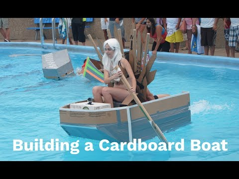 Building a Boat Hull using Cardboard and Duct Tape