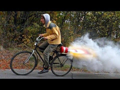 JET ENGINE Bike that runs on nitrate-caramel fuel
