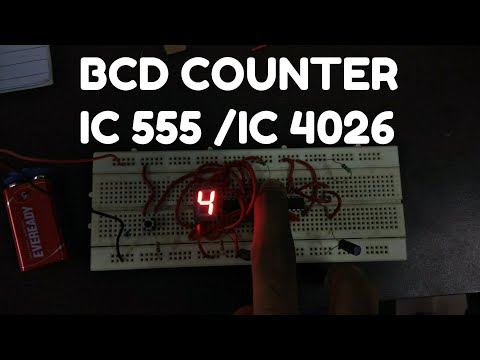 Design BCD counter with 7 Segment