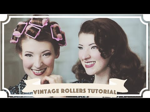 How To Curl Your Hair // Vintage Sponge Rollers Tutorial