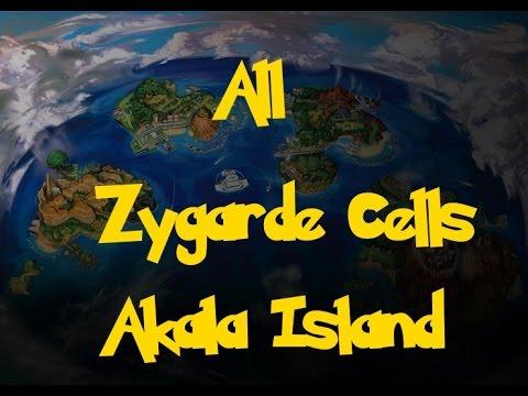 All Zygarde Cells: Akala Island (Pokemon Sun/Moon)