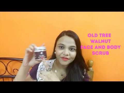 How to do Scrub on Face/Body (Hindi) Ft. Old Tree Walnut Face & Body Scrub.