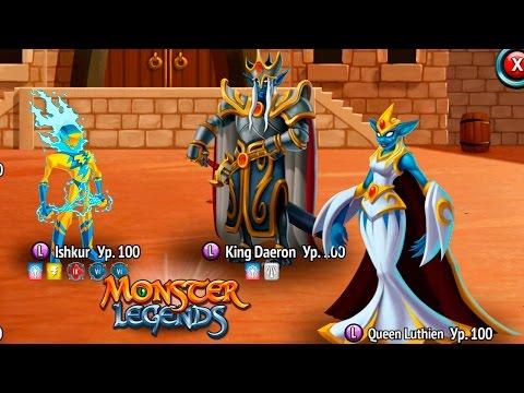 King Daeron и Queen Luthien Боссы 240 Карта странствий Остров Рыцарей и Света Monster Legends