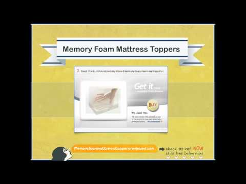 Choosing The Best Memory Foam Mattress Topper